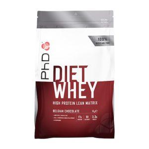 Holland & Barrett PhD Diet Whey Powder Belgian Chocolate 1000g